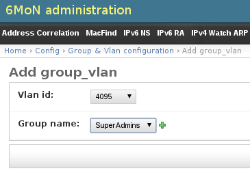 add group vlan